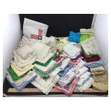 Large Lot of Vintage Handkerchiefs & Other Linens