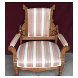 Aztecian Style Wood Framed Cushioned Chair
