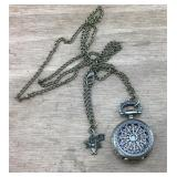 Small Vntg Disney Alice in Wonderland Pocket Watch