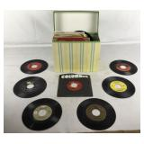 Collection of About 50 45 RPM Records