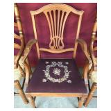Needle Point Cushioned Chair