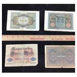 Early 20th Century German Mark Bills
