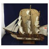 Wooden USS Constitution Sailing Ship Model