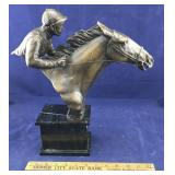 Delaware Park Horse and Jockey Bust