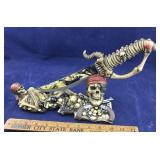 Skeleton Pirate Knife in Resin Skeleton Holder