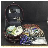 Jewelry Case with Costume Jewelry
