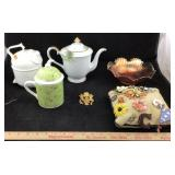 Kitchenware Pitchers, Carnival Glass & Pins