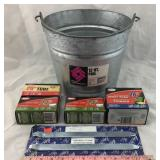 New Galvanized Bucket, Inner Tubes & Tire Iron