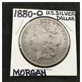 1880-0 Morgan Silver Dollar