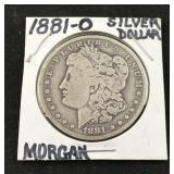 1881-0 Morgan Silver Dollar