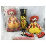 Vintage Stuffed Ronald McDonald & Mr. Peanut