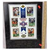 Super Bowl XXVI Washington Redskins Plaque