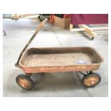 Vintage Rusty Radio Flyer Wagon