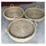 3 Dog Baskets / Beds Woven