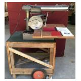 Craftsman Radial Arm saw on Rolling Cart