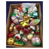 Box of Vintage German Glass Ornaments
