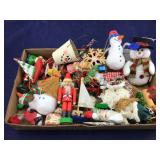 Filled Box of Vintage Christmas Ornaments