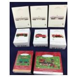 8 Boxed Lionel Train Keepsake Hallmark Ornaments