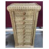 Wicker Jewelry Armoire