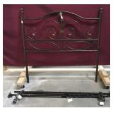 Full Size Metal Headboard and Rails