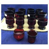 Vintage Royal Ruby Georgian Pattern Tumblers +