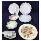 Lot of Antique Plates and Serving Accessories