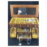 Large Jewelry Box Crammed With Costume Jewelry