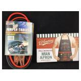 New 150 amp Jumper Cables/Grilling Apron