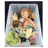 Box of Various Dolls and Figurines
