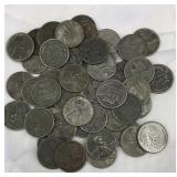 50 Steel Wheat Pennies dated 1943