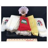 Assortment of Towels including 3 Snowman Towels