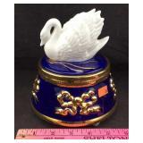 Swan Music Box Jar