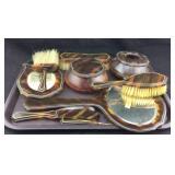 Vintage Shell Pyralin Dubarry Vanity Set