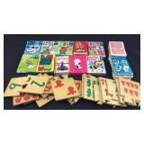 Lot of Vintage Card Games & Wood Puzzle