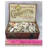 Old Cigar Box Filled with Shells