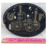 Metal Fire Mark Plaque - UF