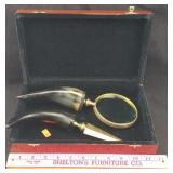 Horn-Handled Magnifying Glass & Letter Opener