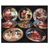Eight Franklin Mint Coke Plates