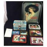 Coke-Beautiful Older Tray Plus Card Collection