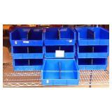 10 plastic hardware organizer bins
