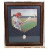 Framed Baseball Art