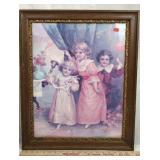 Framed Vintage Color Chromolithograph