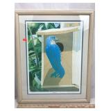 1st Print Lithograph entitled Bluebird