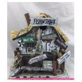 """Fishin Shack"" Decorative Birdhouse"