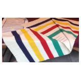 Vintage Rainbow Hudson Bay wool blanket