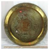 Brass chased oriental tray