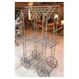Metal Patio Planter Rack