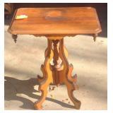 Antique pine parlor table