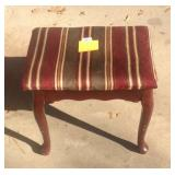 Contemporary Upholstered Queen Anne style stool