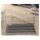 Large steel wire animal crate